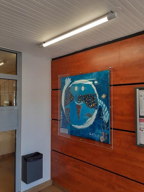 Installation des tableaux (2020) dans les halls de nos résidences !