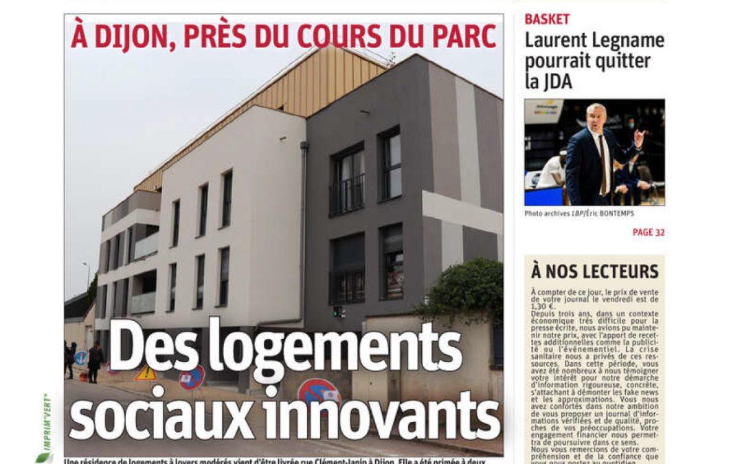 Articles de presse – Clément Janin, une nouvelle résidence innovante